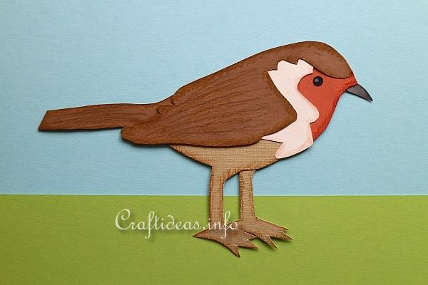 Craft for Kids - Paper Piecing Robin