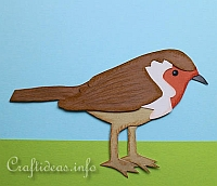 Craft for Kids - Paper Piecing Robin 200
