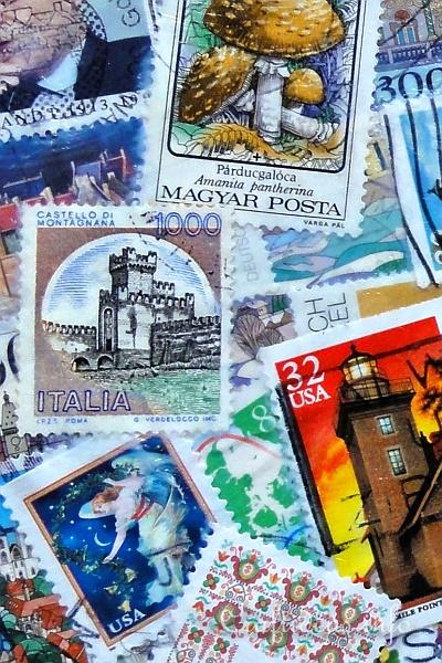 Crafting with Postage Stamps - Decoupage Box Detail