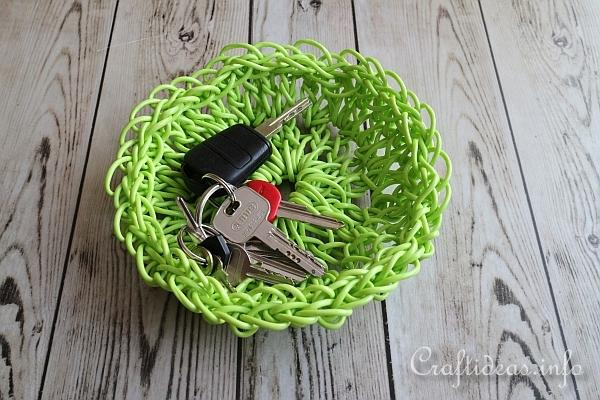 Crochet Clothesline Catchall Basket