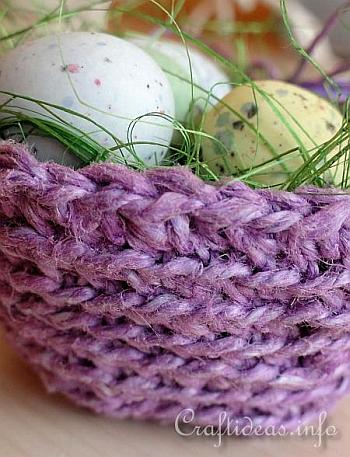 Crochet Easter Basket 2