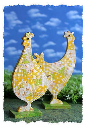 Decopatch Hen and Rooster