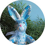 Decoupage Easter Bunny and Eggs