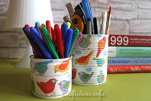 Decoupage Pencil Holder 2