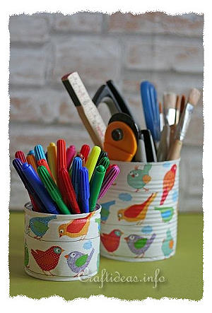 Decoupage Pencil Holder