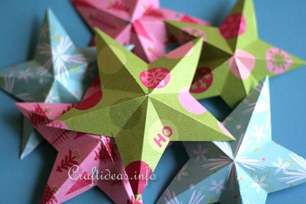 Dimensional 5-Pointed Paper Stars 2