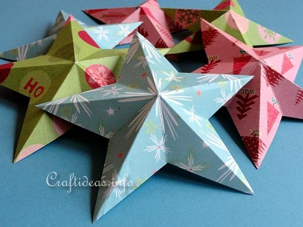 Dimensional 5-Pointed Paper Stars 3