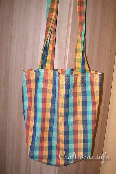 Fabric and Sewing Craft - Dish Towel Shopping Bag
