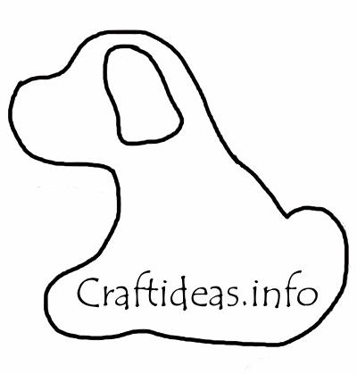 Free Craft Patterns Felt Dog Template