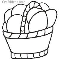 Easter Basket Coloring Book Page