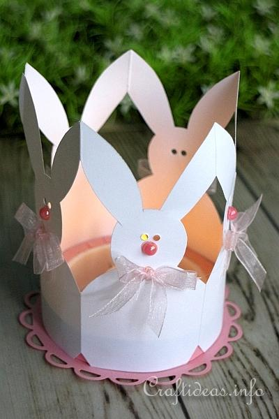 Easter Bunnies Tea Light Holder
