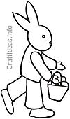 Easter Bunny Coloring Book Page 100