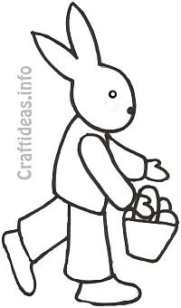 Easter Bunny Coloring Book Page