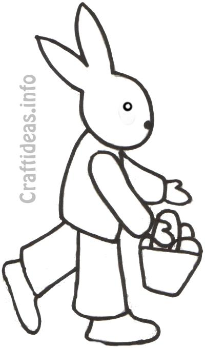 Free Spring Coloring Page for Kids - Easter Bunny