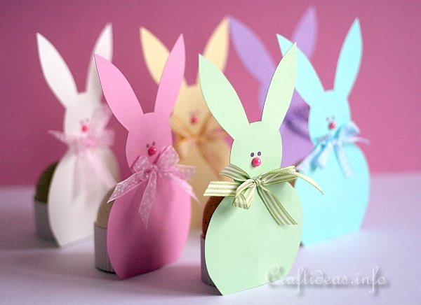Spring And Easter Paper Craft Easter Bunny Egg Holders