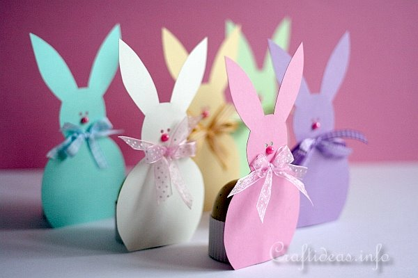 Easter Bunny Paper Egg Holders 2