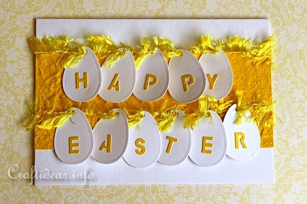 Easter Card - Yellow Card with Eggs 2