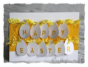 Easter Card - Yellow Card with Eggs