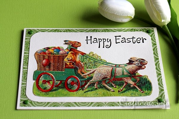 Easter Card With Vintage Easter Motifs Detail