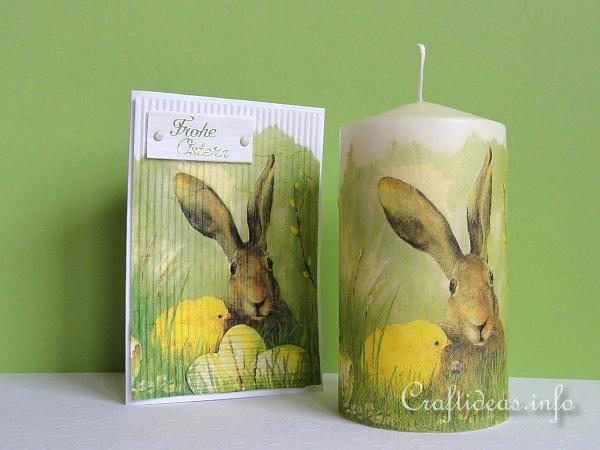 Easter Craft - Candle and Card with Bunny and Chick