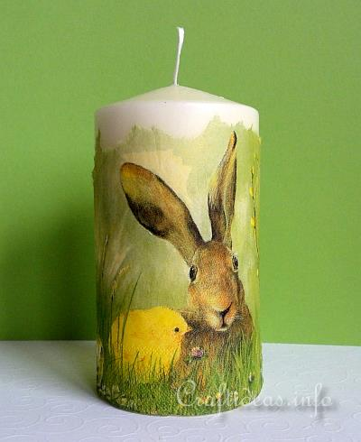 Easter Craft - Candle with Bunny and Chick