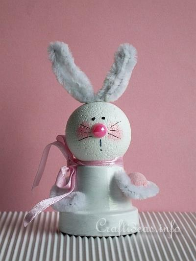 Easter Craft Idea Clay Pot Bunny