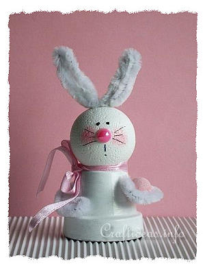 Easter Craft - Clay Pot Bunny