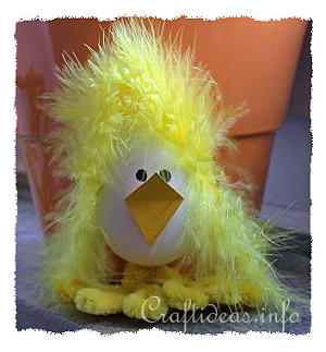 Easter Craft - Fuzzy the Bad Hair Day Chick