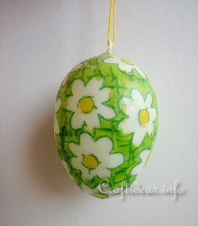 Easter Craft for Kids - Decoupage Easter Egg Using Paper Napkins 2