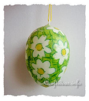 Easter Craft for Kids - Decoupage Easter Egg Using Paper Napkins