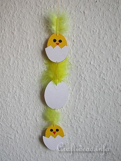 Easter Craft for Kids - Paper Chick Mobile