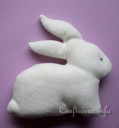 Easter Crafts - Sewing Project - Soft Fleece Easter Bunny