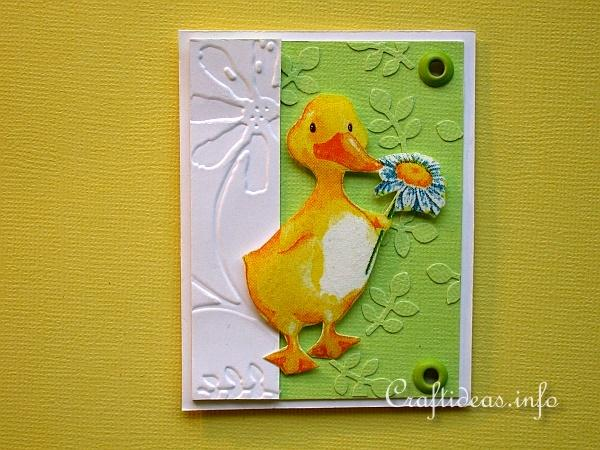 Easter Duck Artist Trading Card