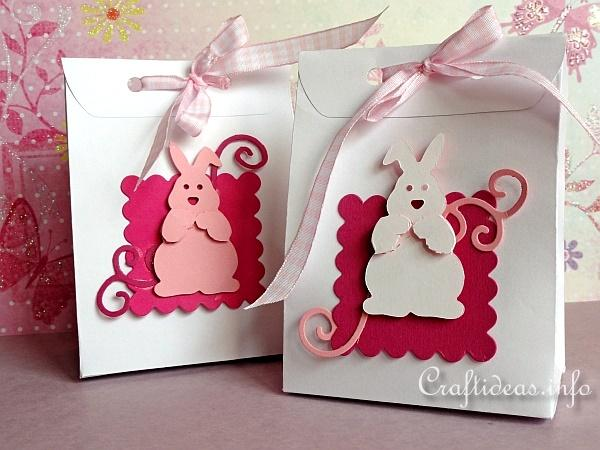 Paper craft for easter easter bunny gift bags negle Image collections