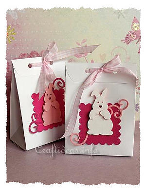 Easter Goodie Bags with Easter Bunnies