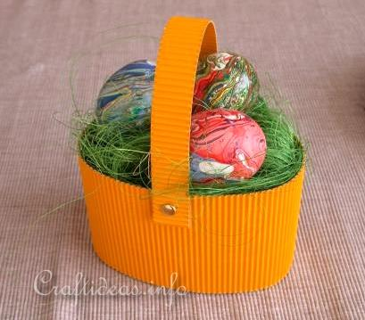 Free Craft Projects For Children At Easter Easy Easter Basket