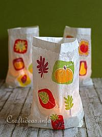 Easy Paper Bag Luminaries