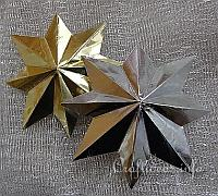 Eight Pointed 3-D Metallic Stars