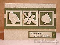 Embossed Leaves Card for Autumn