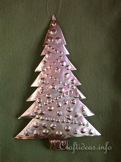 embossed metal christmas tree christmas tree ornament
