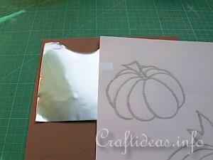 Embossed Metal Pumpkin Plant Poke 1