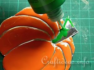 Embossed Metal Pumpkin Plant Poke 12