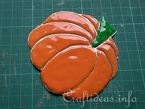 Embossed Metal Pumpkin Plant Poke 14
