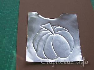 Embossed Metal Pumpkin Plant Poke 3