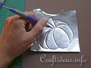 Embossed Metal Pumpkin Plant Poke 4