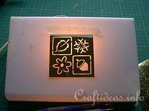 Embossing with the Light Box