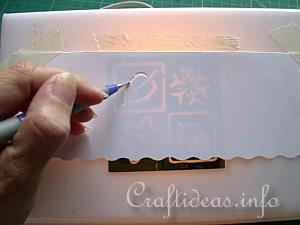 Embossing with the Light Box 5
