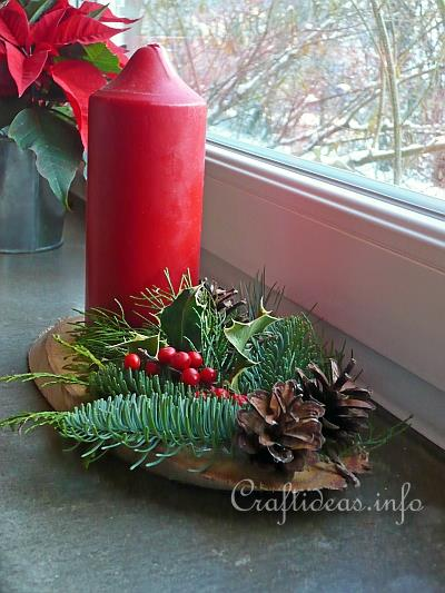 Evergreen Centerpiece for Christmas
