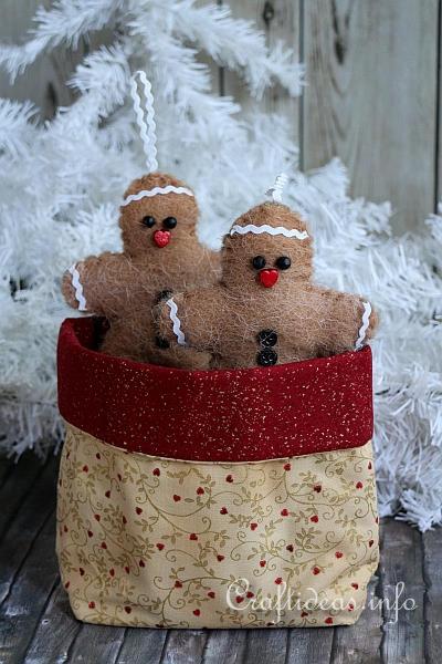 Fabric Christmas Bag 1