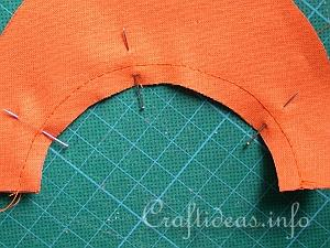 Fabric Pumpkin Sewing Tutorial 2